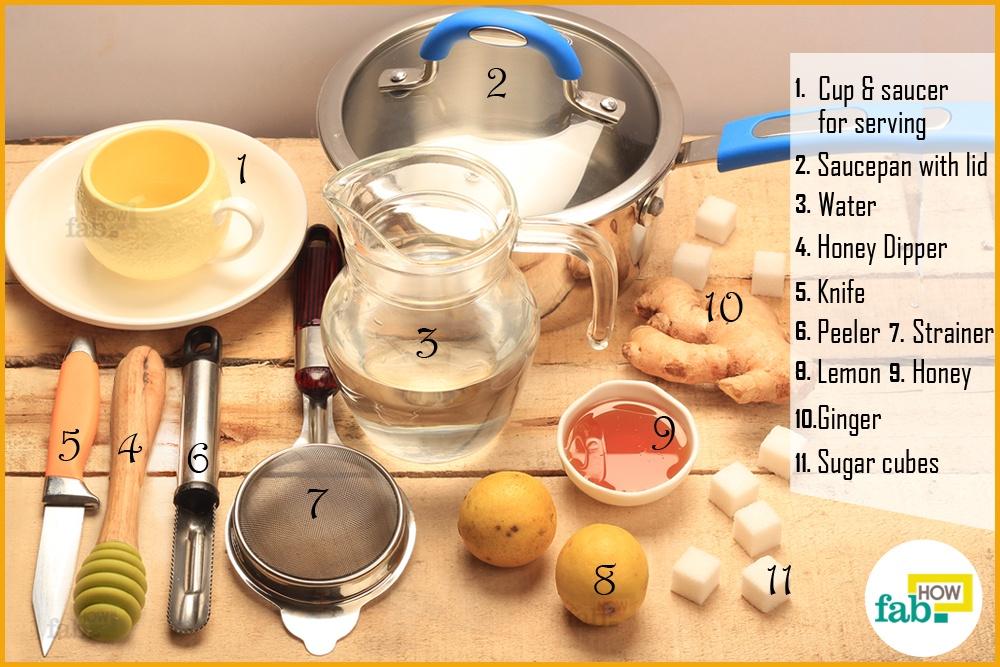 अदरक की चाय बनाने के लिए आवश्यक सामग्री