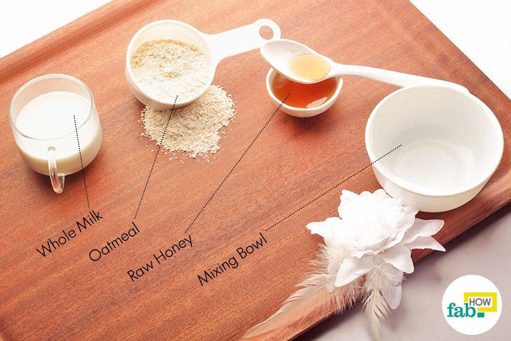 हाथों को कोमल बनाने के लिए ओटमील स्क्रब के इस्तेमाल के लिए आवश्यक सामग्री