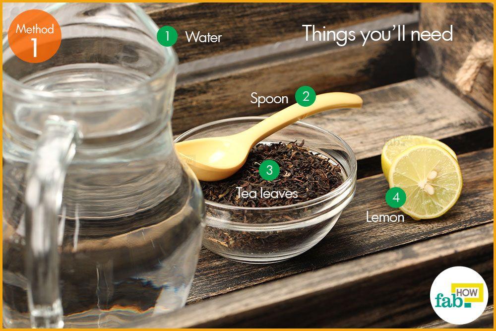 चाय की पत्तियों को भिगोकर लेमन टी बनाने के लिए आवश्यक सामग्री