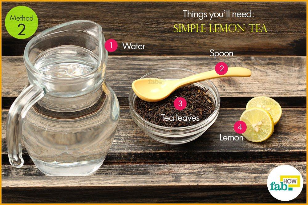 साधारण नींबू की चाय बनाने के लिए आवश्यक सामग्री