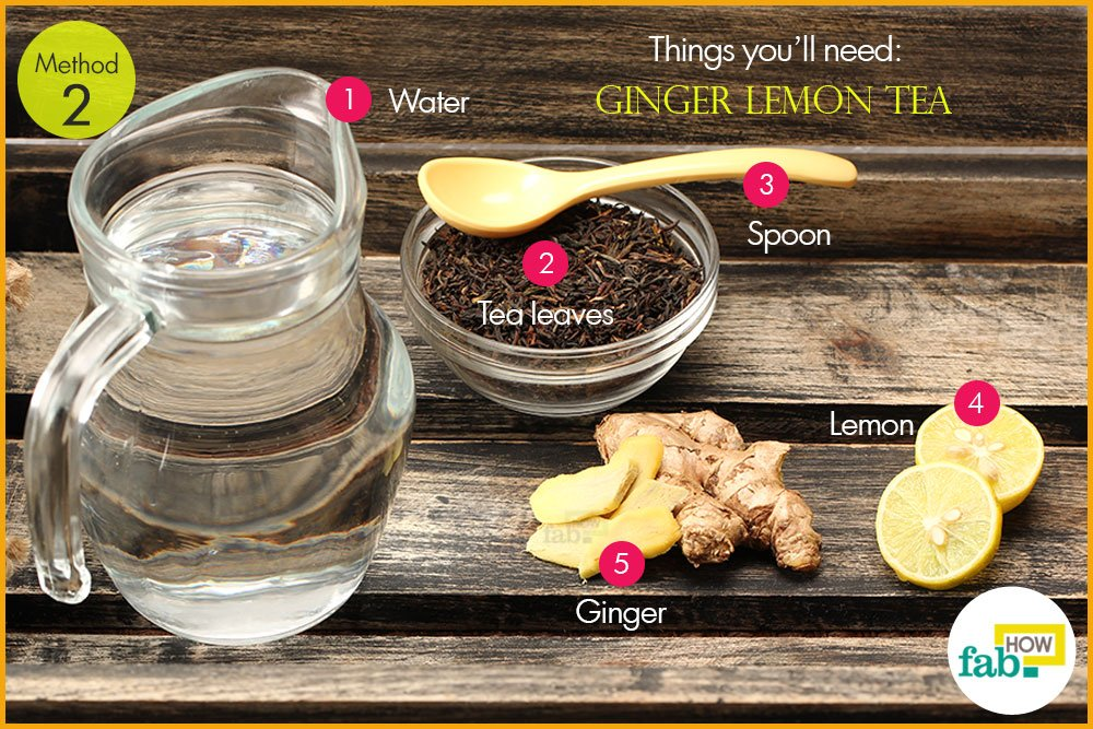 अदरक वाली नींबू की चाय बनाने के लिए आवश्यक सामग्री