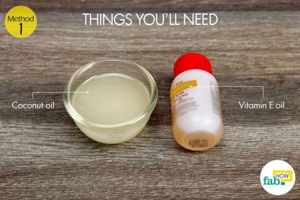 विटामिन-ई ऑयल और नारियल तेल द्वारा उलझे और कड़े बालों से छुटकारा पाने के लिए आवश्यक सामग्री