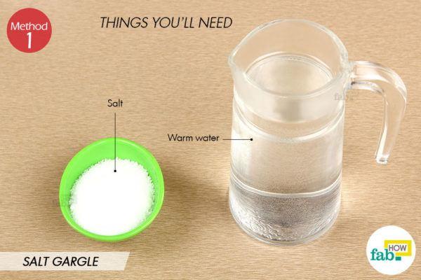 नमक के पानी से गरारा करने के लिए आवश्यक सामग्री