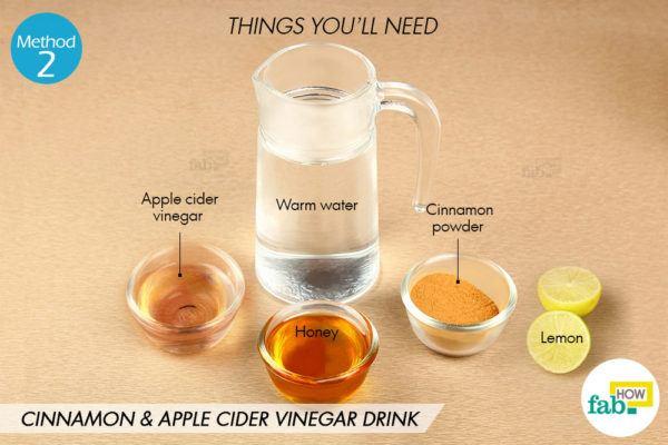 दालचीनी और सेब के सिरके का पेय बनाने के लिए आवश्यक सामग्री