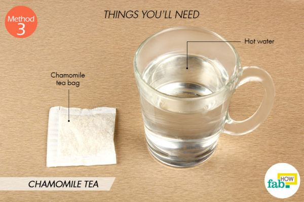कैमोमाइल चाय बनाने के लिए आवश्यक सामग्री