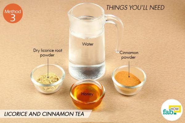 मुलैठी और दालचीनी की चाय बनाने के लिए आवश्यक सामग्री