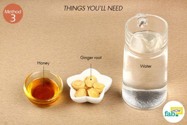 अदरक और शहद की चाय बनाने के लिए आवश्यक सामग्री