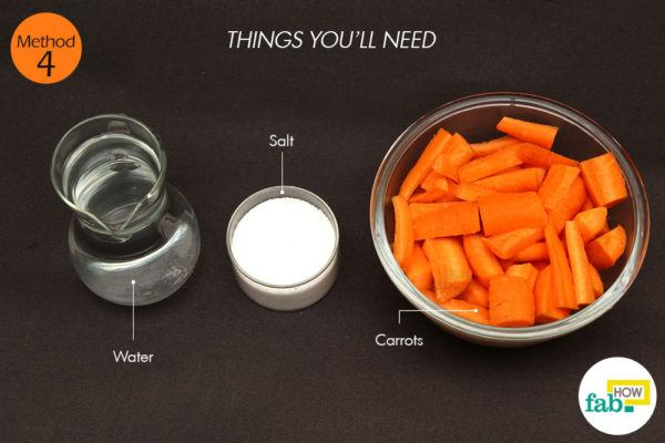 गाजर का सूप बनाने के लिए आवश्यक सामग्री