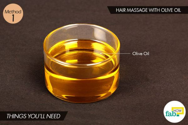 जैतून के तेल/ऑलिव ऑयल से बालों पर मालिश करने के लिए आवश्यक सामग्री