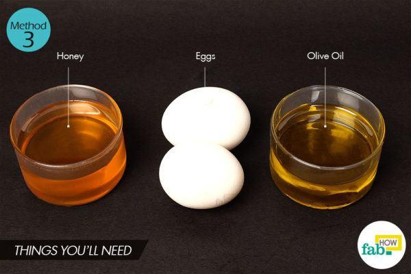 अंडे के इस्तेमाल से हेयर पैक बनाने के लिए आवश्यक सामग्री