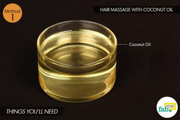 बालों पर नारियल तेल से मालिश करने के लिए आवश्यक सामग्री