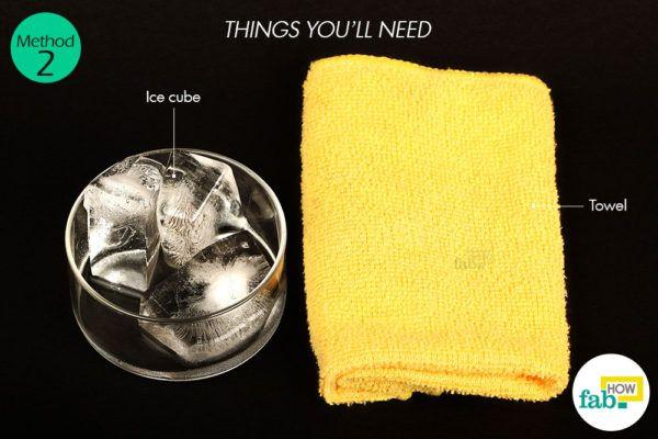 विधि 2: बर्फ द्वारा मुंहासों से छुटकारा पाने के लिए आवश्यक सामग्री