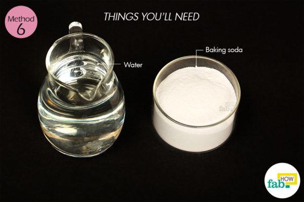 विधि 6: बेकिंग सोडा द्वारा मुंहासों से छुटकारा पाने के लिए आवश्यक सामग्री