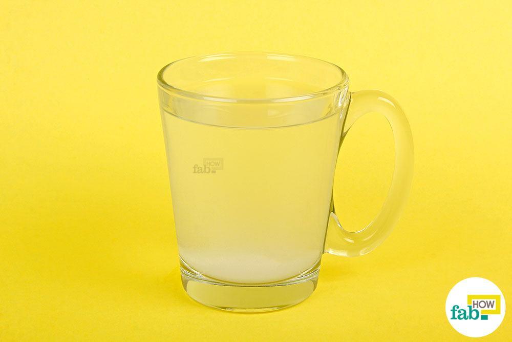 बेकिंग सोडा का पानी तैयार है