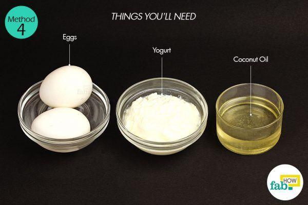 अंडे के इस्तेमाल के लिए आवश्यक सामग्री