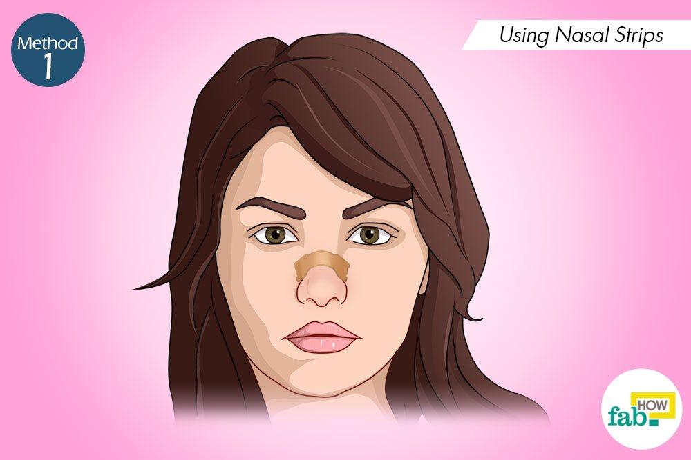 रात को सोते समय नाक की स्ट्रिप्स का इस्तेमाल कीजिए