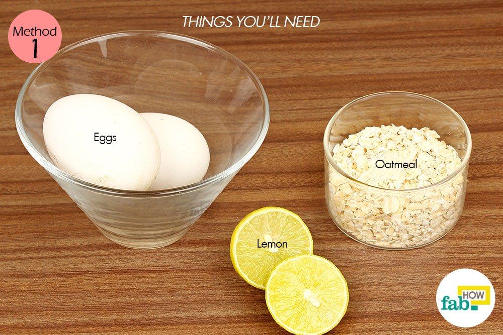 अंडे के सफेद भाग के इस्तेमाल के लिए आवश्यक सामग्री
