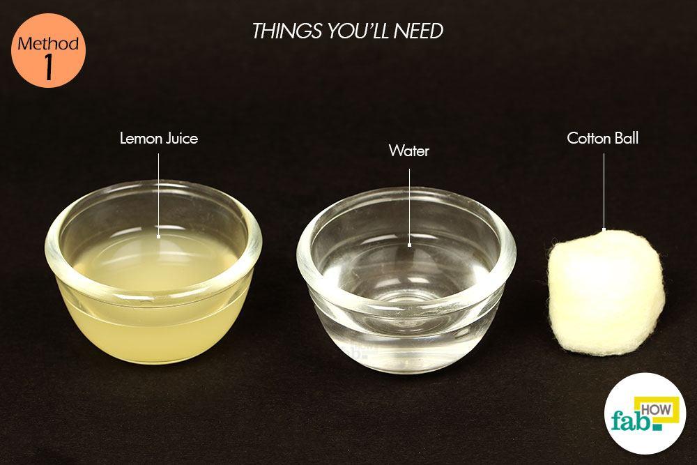 : त्वचा पर नींबू के इस्तेमाल के लिए आवश्यक सामग्री