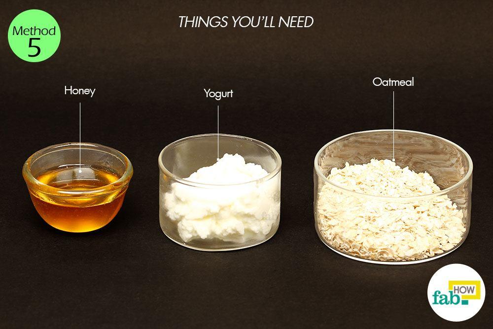 दही (योगर्ट) और शहद के इस्तेमाल के लिए आवश्यक सामग्री