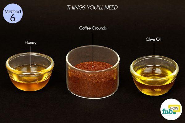 कॉफी स्क्रब बनाने के लिए आवश्यक सामग्री