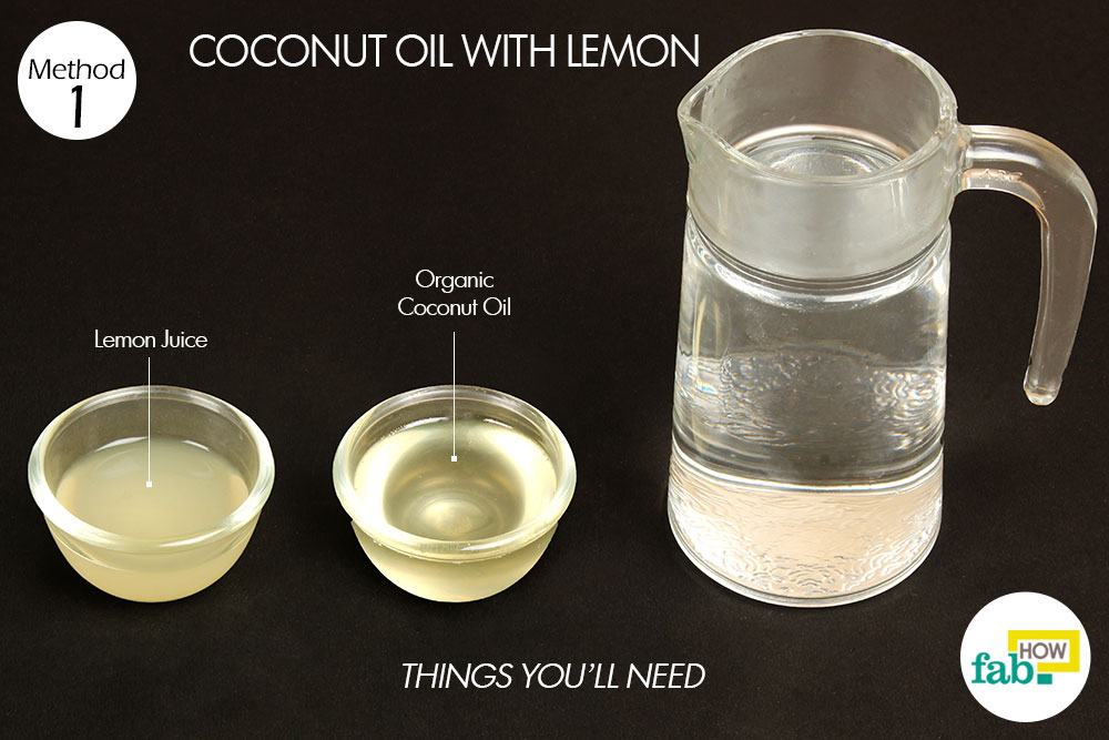 नारियल तेल और नींबू के इस्तेमाल के लिए आवश्यक सामग्री