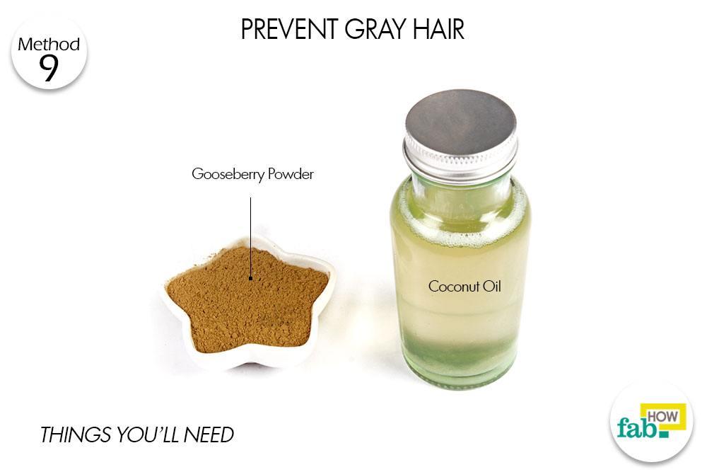 बालों को सफेद होने से बचाने के लिए आवश्यक सामग्री