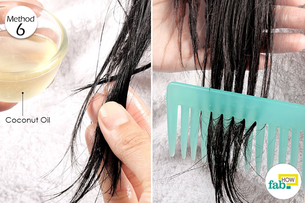 बालों पर नारियल तेल लगाकर कंघी कीजिये