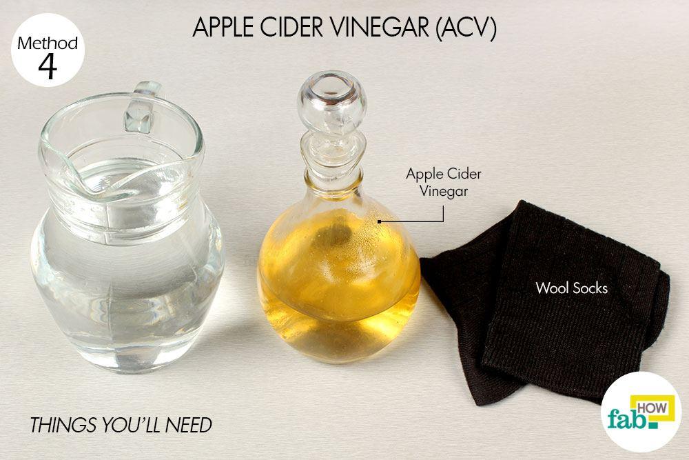 बुखार कम करने के लिए सेब के सिरके के इस्तेमाल के लिए आवश्यक सामग्री