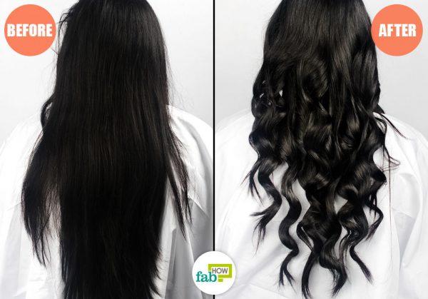 बालों पर कर्लिंग वान्ड के इस्तेमाल से बालों को कर्ल किया जा सकता है