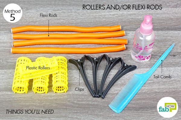 रोलर की सहायता से बालों को कर्ल करने के लिए आवश्यक सामग्री