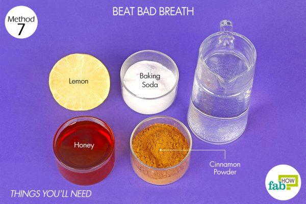 मुंह की बदबू के लिए नींबू के इस्तेमाल के लिए आवश्यक सामग्री
