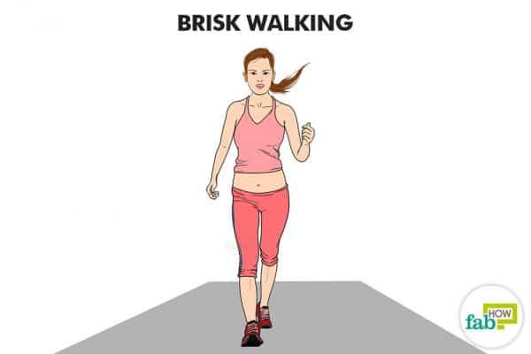 तेज चलने का व्यायाम कीजिये