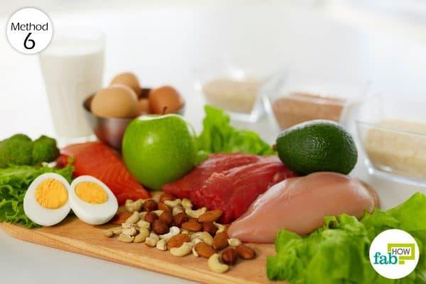 स्वास्थ्यवर्धक आहार लें