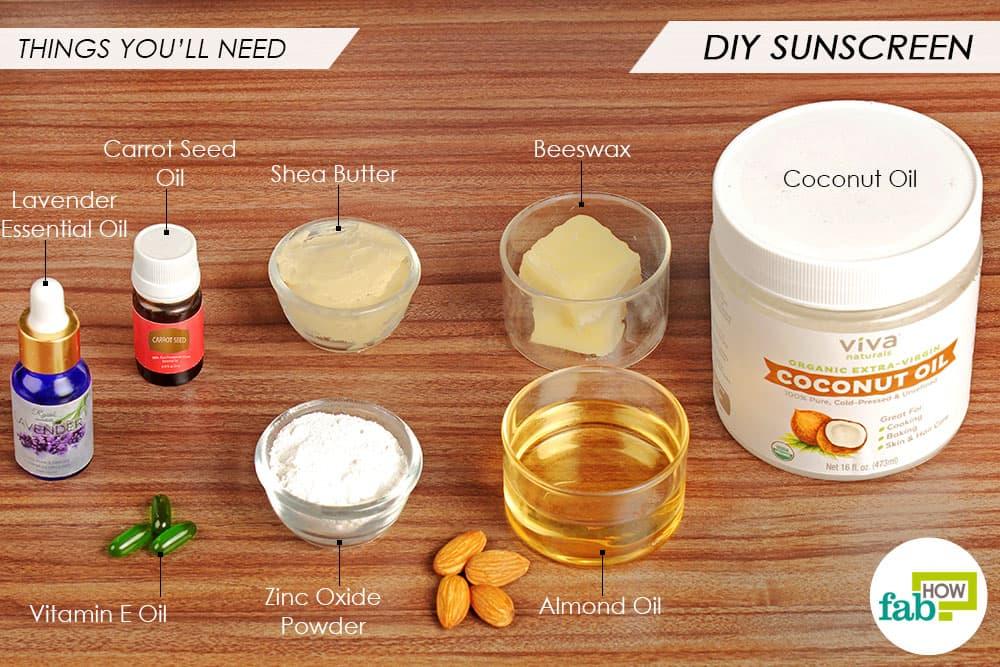 त्वचा के लिए सुरक्षित सनस्क्रीन बनाने के लिए आवश्यक सामग्री
