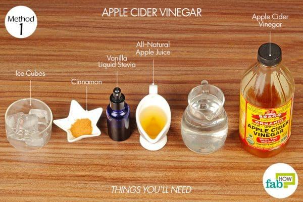 सेब के सिरके के इस्तेमाल के लिए आवश्यक सामग्री