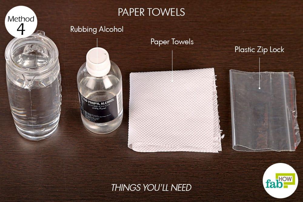 पेपर टॉवल के इस्तेमाल से कोल्ड कंप्रेस बनाने के लिए आवश्यक सामग्री