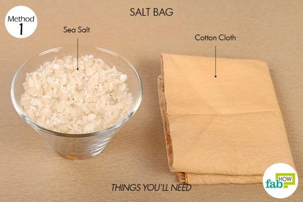 साल्ट बैग बनाने के लिए आवश्यक सामग्री
