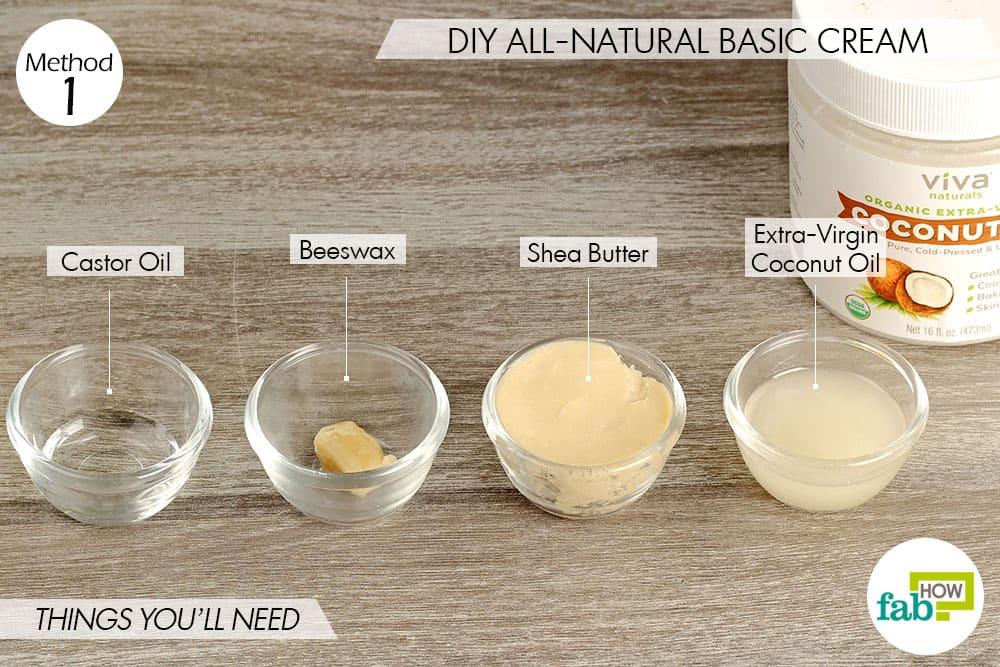 प्राकृतिक पदार्थों से डायपर रैश क्रीम बनाने के लिए आवश्यक सामग्री