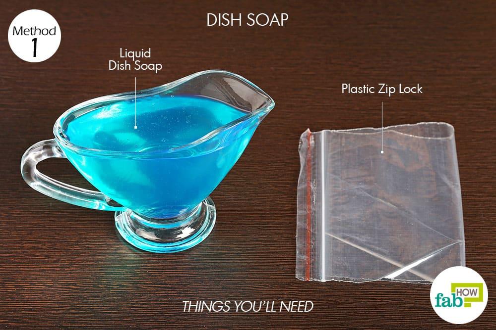 डिश सोप से कोल्ड कंप्रेस बनाने के लिए आवश्यक सामग्री