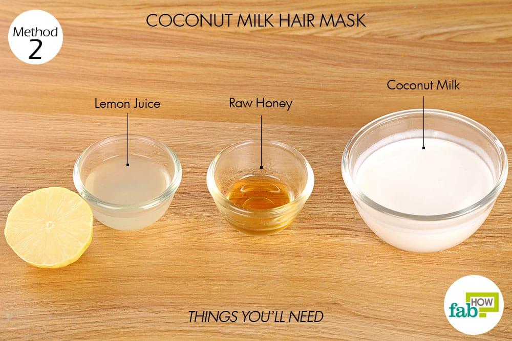 नारियल दूध से हेयर पैक बनाने के लिए आवश्यक सामग्री