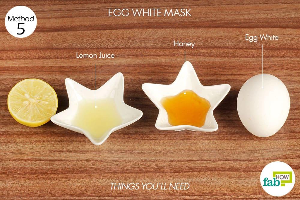 अंडे के सफ़ेद भाग से फेस पैक बनाने के लिए आवश्यक सामग्री