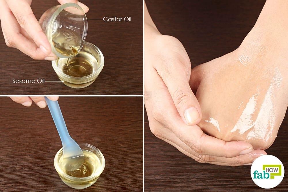 हाथों को रूखा होने से बचाने के लिए कैस्टर ऑयल का इस्तेमाल कीजिये