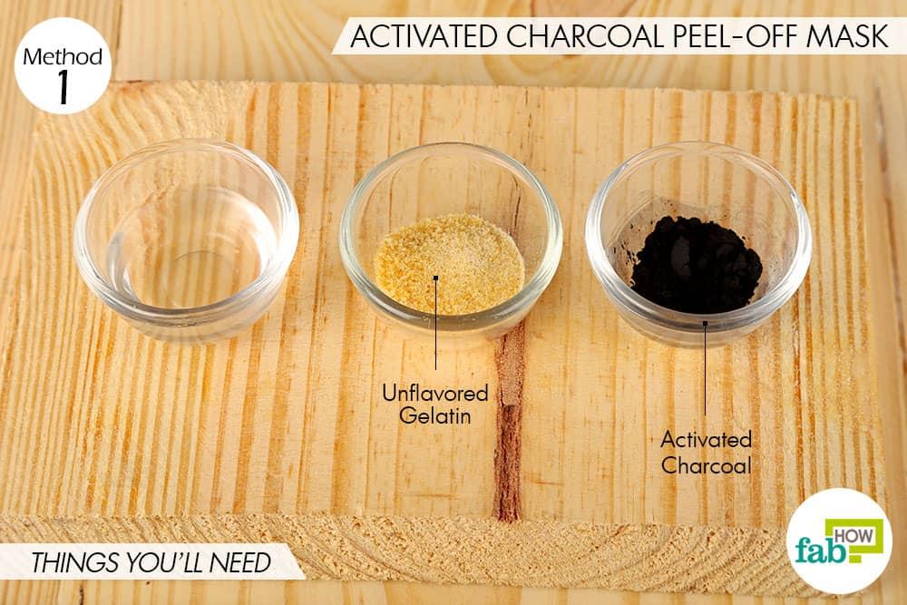 एक्टिवेटेड चारकोल पील-ऑफ मास्क बनाने के लिए आवश्यक सामग्री