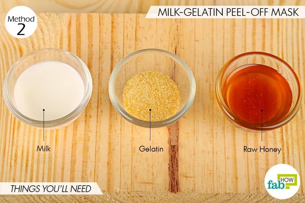 दूध-जिलेटिन फेस पैक बनाने के लिए आवश्यक सामग्री