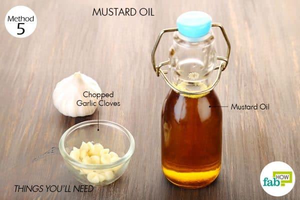 सरसों के तेल के इस्तेमाल के लिए आवश्यक सामग्री