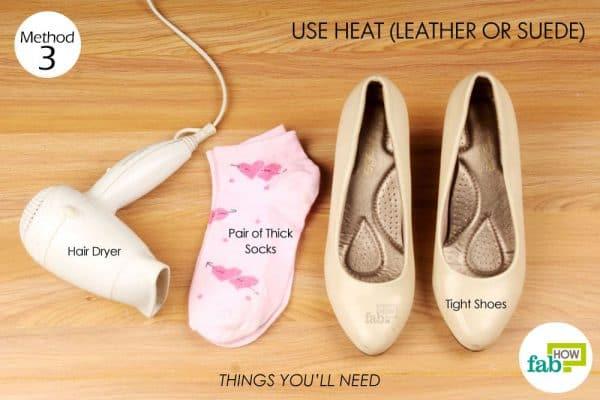 जूतों में ब्लो ड्राई करने के लिए आवश्यक सामग्री