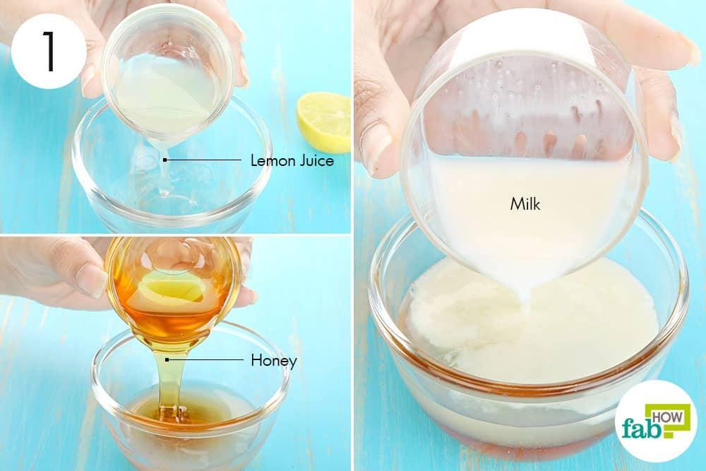 दूध, शहद और नींबू के रस को मिला लीजिये
