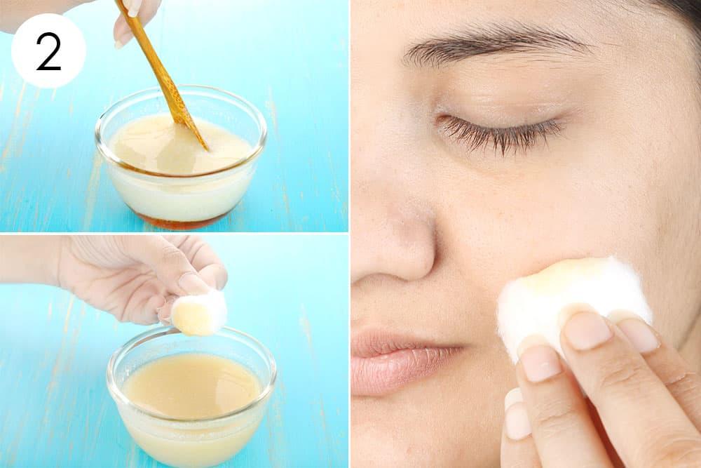 दूध, शहद और नींबू के रस से मिश्रण तैयार करें