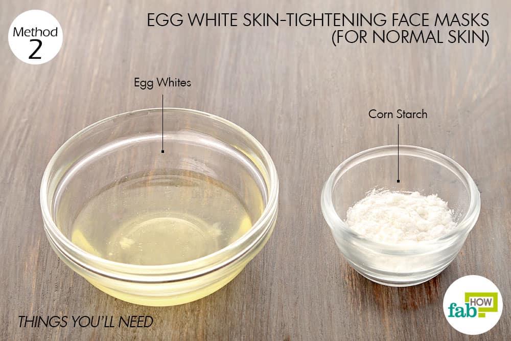 सामान्य त्वचा के लिए अंडे के सफेद भाग से फेस पैक बनाने के लिए आवश्यक सामग्री