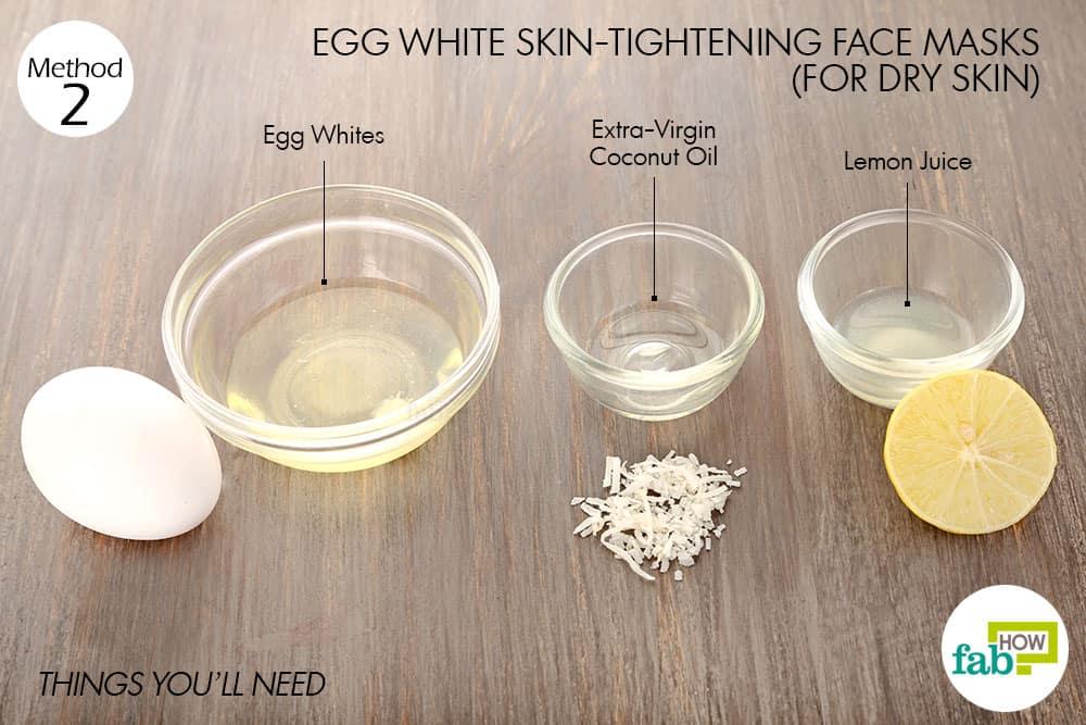 रूखी त्वचा के लिए अंडे के सफेद भाग से फेस पैक बनाने के लिए आवश्यक सामग्री